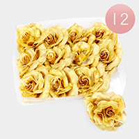 12PCS - Flower Hair Bands / Hair Pins / Brooches