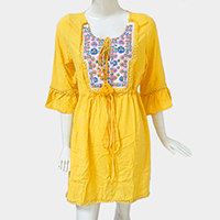 Boho Drop Tassel Tunic Dress