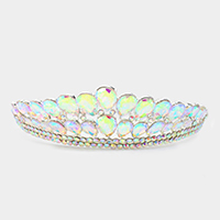 Crystal Teardrop Cluster Pageant Queen Tiara