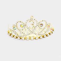 '3' Crystal Rhinestone Pave Mini Party Tiara
