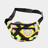 Boho Aztec Patterned Mini Fanny Pack