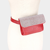 Crystal Rhinestone Embellished Leather Fanny Pack