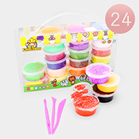 24PCS - Soft Foam Beads Super Light Clay Fluffy Slime Kids Toy