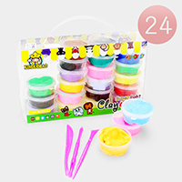 24PCS - Super Light Clay Fluffy Slime Kids Toy