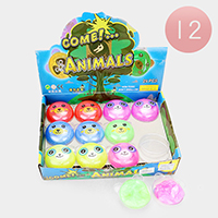 12PCS - Cute Animals Fluffy Slime Kids Toy