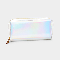 Hologram Zipper Wallet