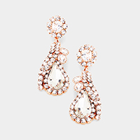 Floral Crystal Evening Earrings