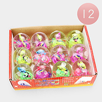 12PCS - Fish Lighting Bouncy Ball Kids Toys