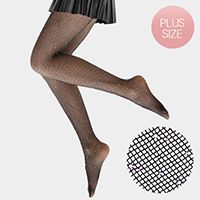 Crystal Embellished Fishnet Pantyhose Tights