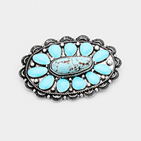 Tribal Enamel Turquoise Accented Barrette