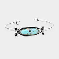 Turquoise Accented Cuff Bracelet