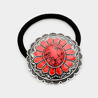 Tribal Red Coral Stretch Hair Band