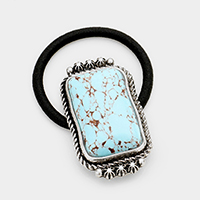 Tribal Turquoise Rectangle Stretch Hair Band