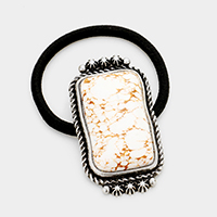 Tribal Howlite Rectangle Stretch Hair Band