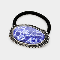 Abstract Lapis Lazuli Stretch Hair Band