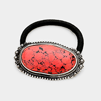 Abstract Red Coral Stretch Hair Band