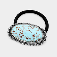 Abstract Turquoise Stretch Hair Band