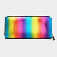 Rainbow Zipper Wallet