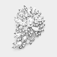 Crystal Bouquet Pin Brooch / Pendant