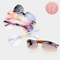 12PCS - Oversized Vintage Sunglasses