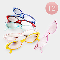 12PCS - Retro Cat Eye Sunglasses