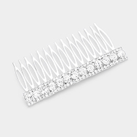 Rhinestone Pave Bubble Crystal Detail Hair Comb