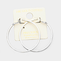 14K Gold Filled 2 inch Hypoallergenic Metal Hoop Earrings
