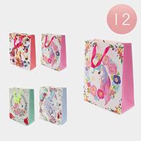 12PCS - Unicorn Printed Gift Bags