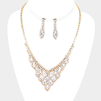 Rhinestone Pave Crystal Bubble Necklace