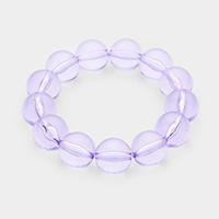 Lucite Ball Stretch Bracelet