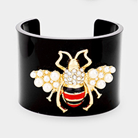 Honey Bee Accented Cuff Bracelet