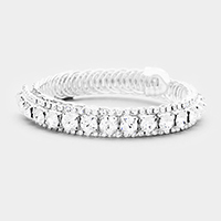 Marquise Crystal Bubble Cluster Cuff Bracelet