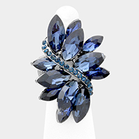Crystal Marquise Cluster Stretch Ring