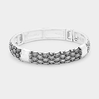 Braided Metal Stretch Bracelet