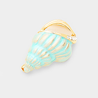 Conch Turban Shell Pin Brooch