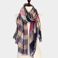 Double Side Plaid Scarf