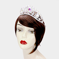 Triple Oval Crystal Accented Pageant Queen Tiara