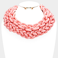 Rope Braided Collar Necklace
