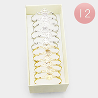 12PCS - Mixed Stainless Steel Metal Hook Bracelets