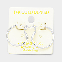 14K Gold Dipped 0.75 Inch Hypoallergenic Metal Hoop Earrings