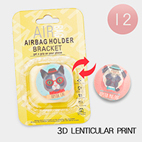 12PCS - Cat Dog 3D Lenticular Popsocket Airbag Holders