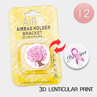 12PCS - Pink Ribbon 3D Lenticular Popsocket  Airbag Holders