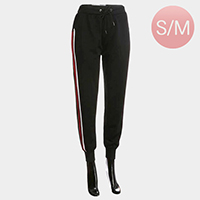 Side Triple Tone Stripe Detail Band Lounge Pants
