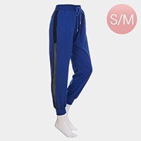 Mesh Net Detail Band Lounge Pants