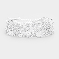 Marquise Crystal Pave Evening Bracelet