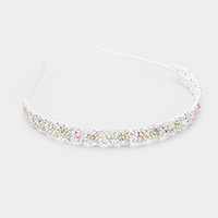 Braided Crystal Rhinestone Pave Headband