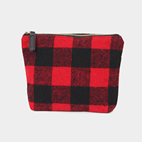 Buffalo Check Pouch Cosmetic Bag