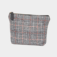 Glen Check Pouch Cosmetic Bag