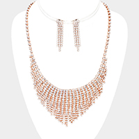 Crystal Rhinestone Pave Necklace