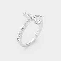 Cubic Zirconia Pave Cross Ring